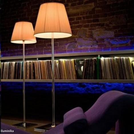 Lámpara de pie KTRIBE F2 DIM CROMO/TELA