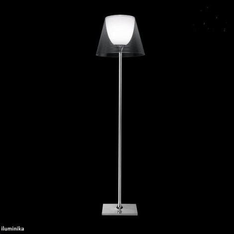 Lámpara de pie KTRIBE F2 DIM CROMO/TRASPARENTE