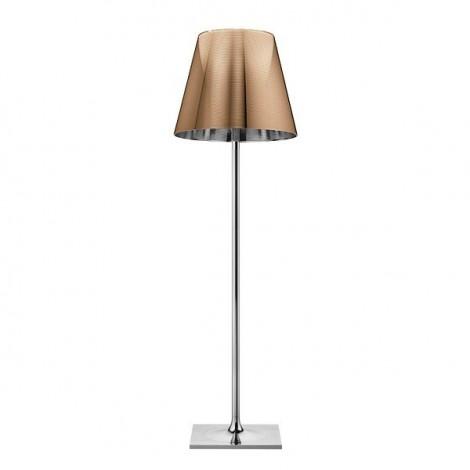 Lámpara de pie KTRIBE F3 DIM CROMO/ALUMINIZADO BRONCE