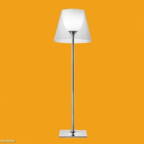 Lámpara de pie KTRIBE F3 DIM CROMO/TRANSPARENTE