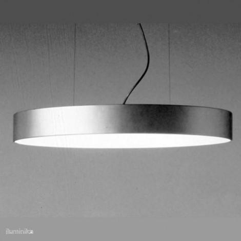 Lámpara Colgante Hopper Oval 70 Plata, 240207800 Metalarte