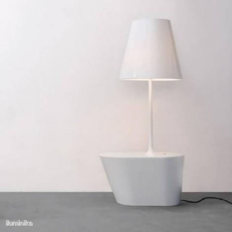 Lámpara de Pie América Blanco Charol