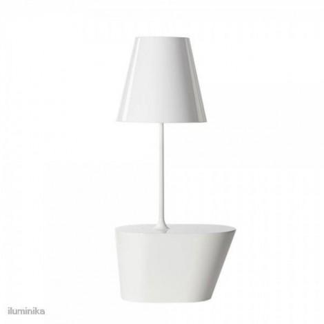 Lámpara de Pie América Blanco Chintz