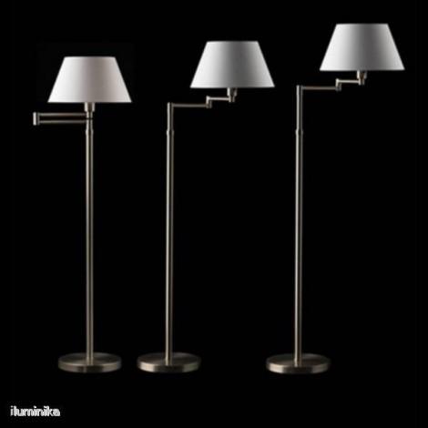 Lámpara de Pie Hansen 3982 Níquel Conica Blanca