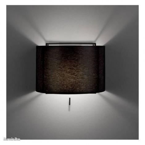 Lámpara Aplique Lewit Pe Negro, 157604700+811784700 Metalarte