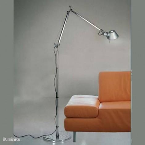 A001000 + A012820, Lámpara de pie Tolomeo Terra Aluminio Artemide