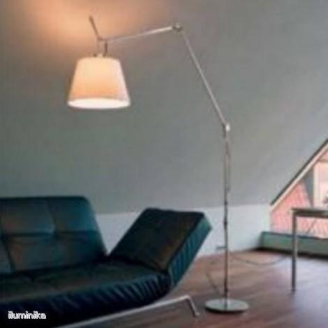 Lámpara de pie Tolomeo Mega Tierra Pergamino 420