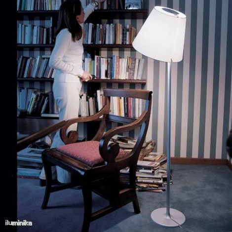 0123010A, Lámpara de pie Melampo Terra Gris Aluminio Artemide