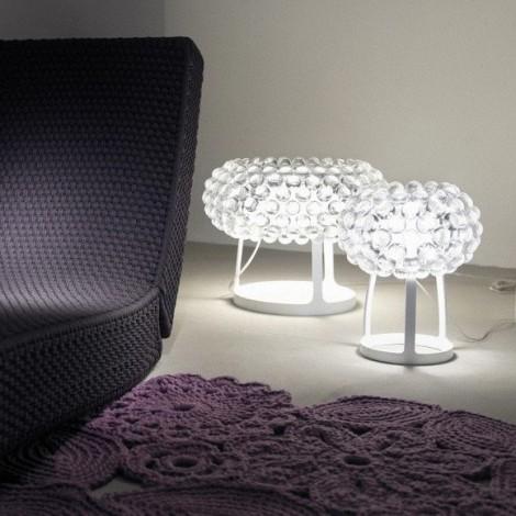138012 16 foscarini, Lámpara Sobremesa Caboche Transparente