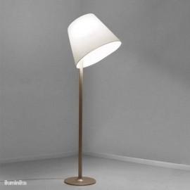 Lámpara de pie Melampo Mega Terra Bronce/Ecrú