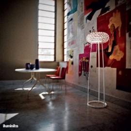 Lámpara de Pie Caboche Grande Transparente