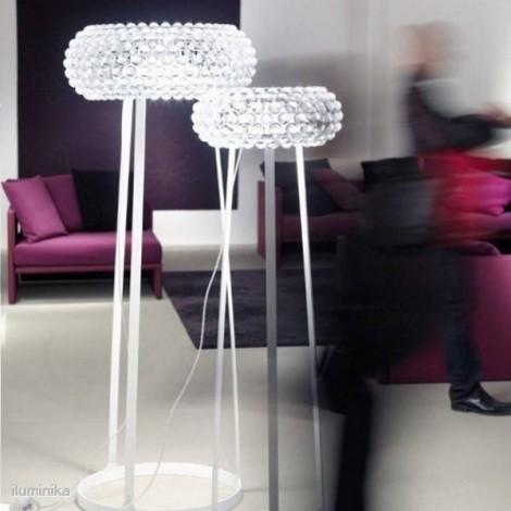 Lámpara de Pie Caboche Mediana Transparente