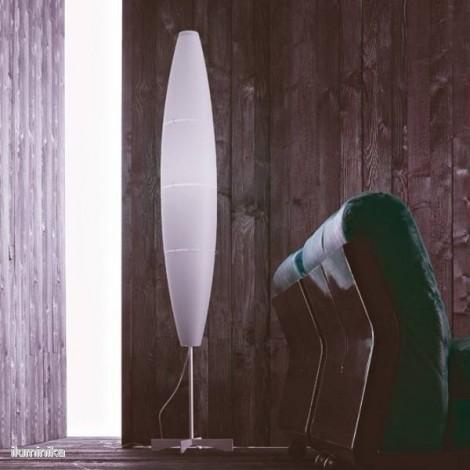 Lámpara de Pie Havana Dimmer Cromo/Blanco