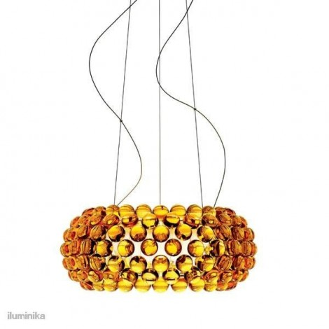 Lámpara Colgante Caboche Mediana Amarillo Oro, 138007 52 Foscarini