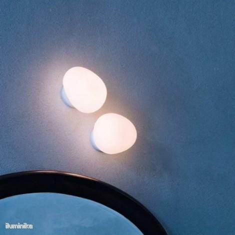 Lámpara Aplique Gregg Pequeña Blanco, 1680052 10 Foscarini