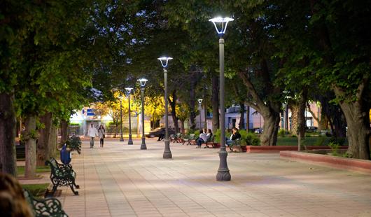 Ciudad con LED